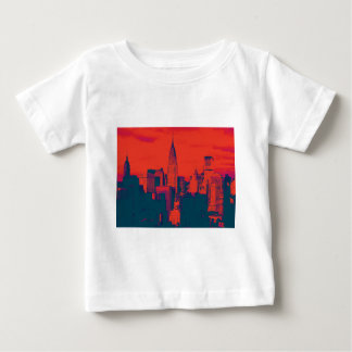 Dotted Red Retro Style Pop Art New York City Baby T-Shirt