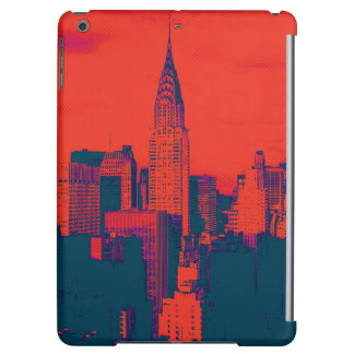 Dotted Red Retro Style Pop Art New York City iPad Air Cover