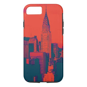 USA Themed Dotted Red Retro Style Pop Art New York City iPhone 7 Case