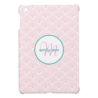 Dotted Seigaiha Wave Scale Pattern iPad Mini Cases