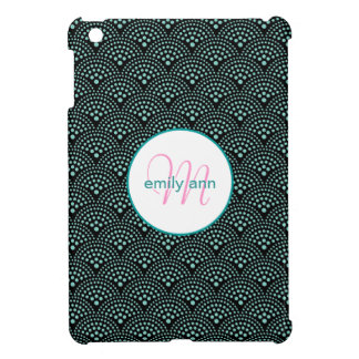 Dotted Seigaiha Wave Scale Pattern iPad Mini Covers