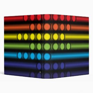 Dotted Spectrum 3 Ring Binder
