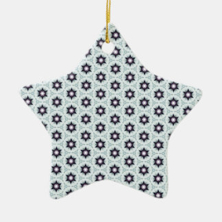 Dotted Star Pattern Ceramic Ornament
