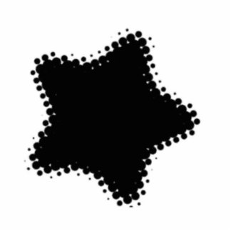 Dotted Star Pin Cutout