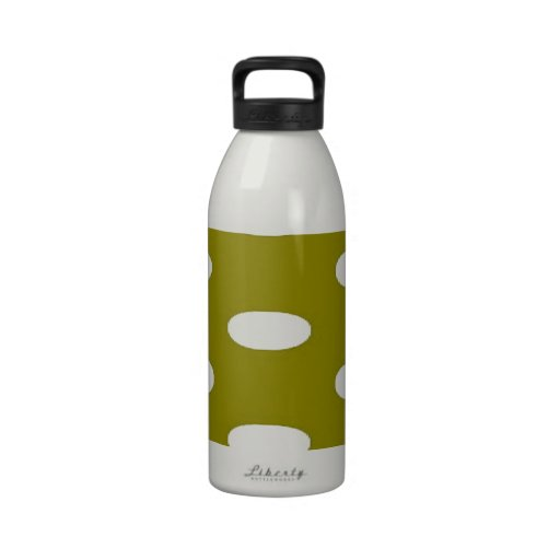 dotted stretch olive white reusable water bottles