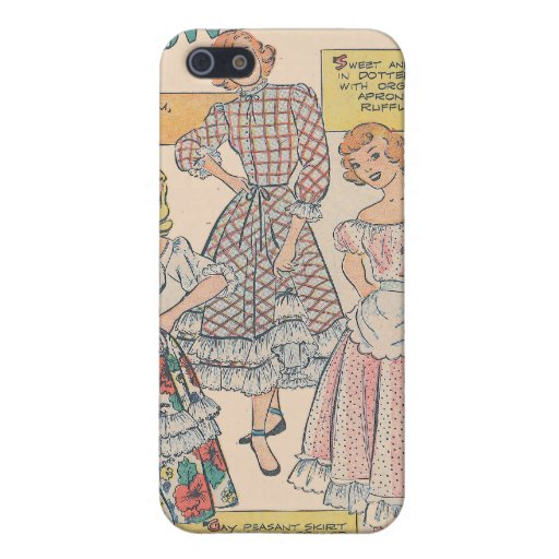 Dotted Swiss and Ruffles Cover For iPhone 5