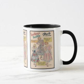 Dotted Swiss and Ruffles Mug