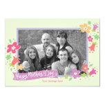 """Dotted Swiss Mother's Day Greeting Card 5"""" X 7"""" Invitation Card"""