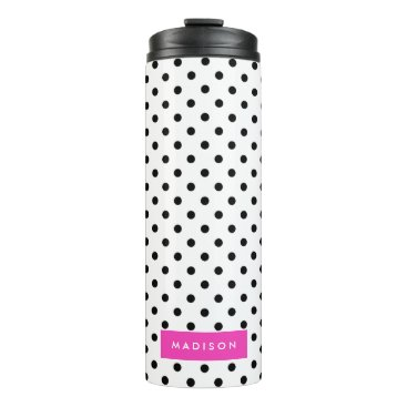Beach Themed Dotted Thermal Tumbler