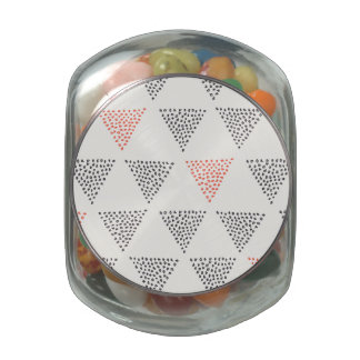 Dotted Triangles Pattern #1 Glass Jars
