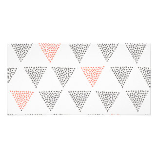 Dotted Triangles Pattern #1 Photo Card