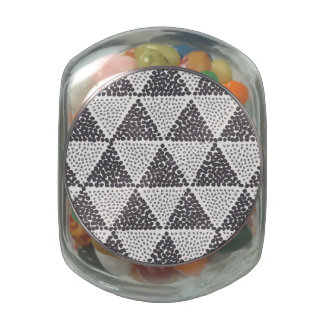 Dotted Triangles Pattern #2 Jelly Belly Candy Jars