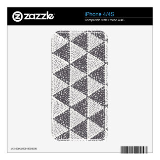 Dotted Triangles Pattern #2 Skin For The iPhone 4