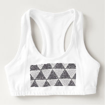 Dotted Triangles Pattern #2 Sports Bra