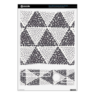 Dotted Triangles Pattern #2 Xbox 360 S Console Skin