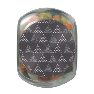 Dotted Triangles Pattern #3 Glass Jars