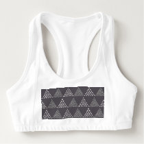 Dotted Triangles Pattern #3 Sports Bra
