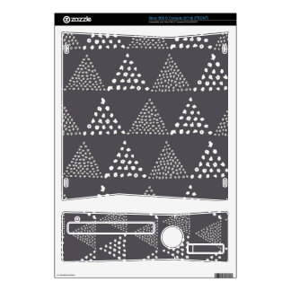 Dotted Triangles Pattern #3 Xbox 360 S Console Skin