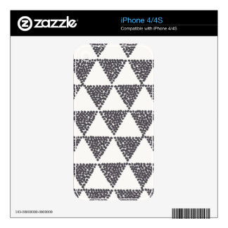 Dotted Triangles Pattern #4 Decals For iPhone 4S
