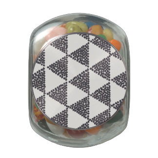 Dotted Triangles Pattern #4 Jelly Belly Candy Jar
