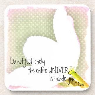 Dotted Tulip Rumi Quote Coaster