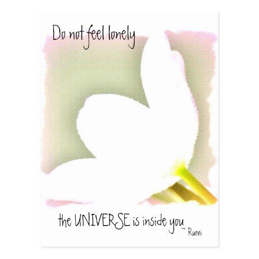 Dotted Tulip Rumi Quote Postcards