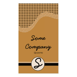 Dotted Wave Monogram (Hot Cocoa) Double-Sided Standard Business Cards (Pack Of 100)