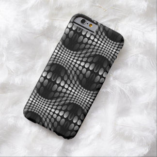Dotted Waves Wallpaper black & white Barely There iPhone 6 Case