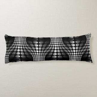 Dotted Waves Wallpaper black & white Body Pillow