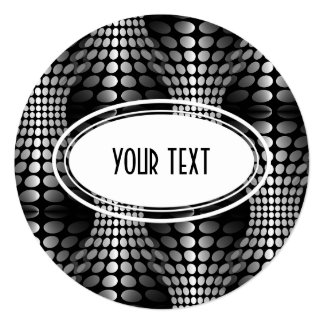 Dotted Waves Wallpaper black & white Card