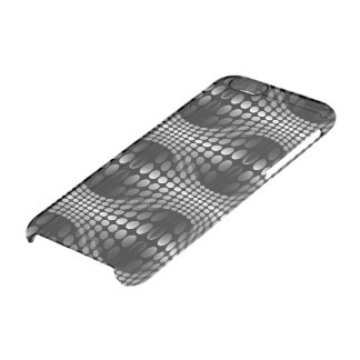 Dotted Waves Wallpaper black & white Clear iPhone 6/6S Case