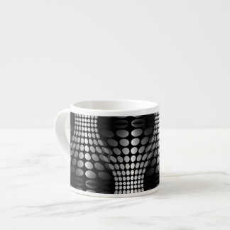 Dotted Waves Wallpaper black & white Espresso Cup