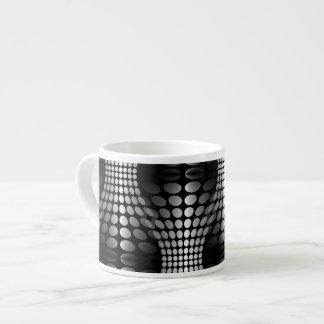 Dotted Waves Wallpaper black & white Espresso Mug