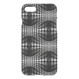 Dotted Waves Wallpaper black & white iPhone 7 Case
