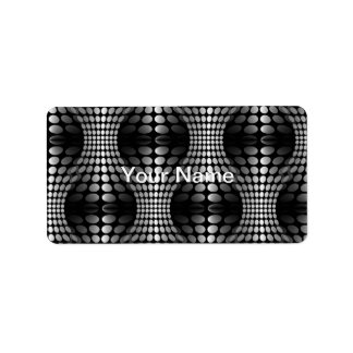 Dotted Waves Wallpaper black & white Label