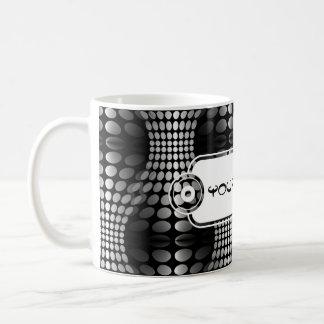 Dotted Waves Wallpaper black & white Mug