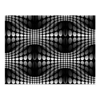Dotted Waves Wallpaper black & white Postcard