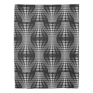 Dotted Waves Wallpaper black & white + your ideas Duvet Cover