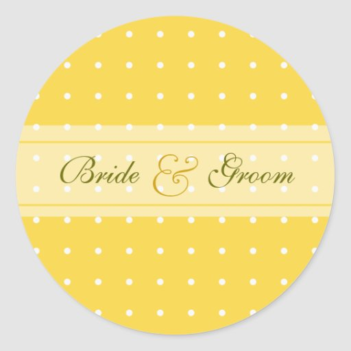 Dotted wedding classic round sticker