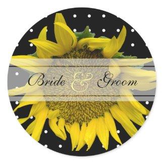 Dotted wedding sticker