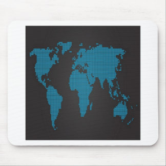Dotted world map design mouse pad