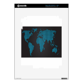 Dotted world map design skins for the iPad 2