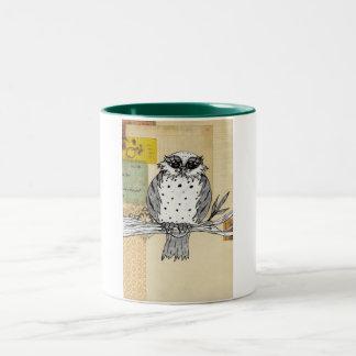 Dotti the Owl 26 Two-Tone Coffee Mug