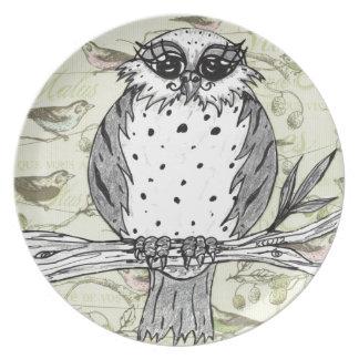 Dotti the Owl 33 Dinner Plate