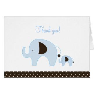 Dottie Blue Elephant Folded Thank you notes Cards