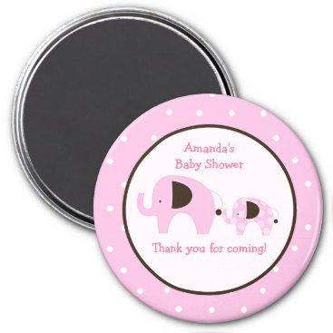 Dottie Elephant (Pink) 3-inch Round Favor Magnet