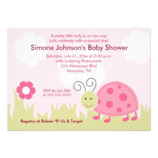 Dottie Ladybug Girl Baby Shower Invitation 4x6