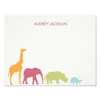 Dotty Animals Thank You Cards - Pink Custom Announcements
