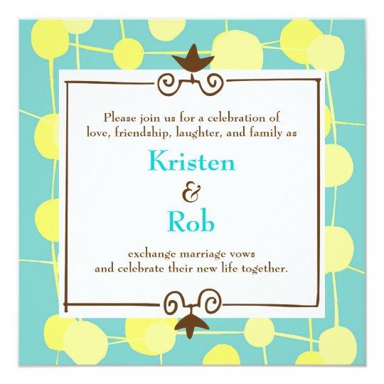 Dotty (Bubblegum Blue) Wedding Card