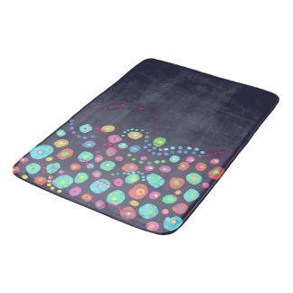 Dotty circles abstract pattern bathroom mat